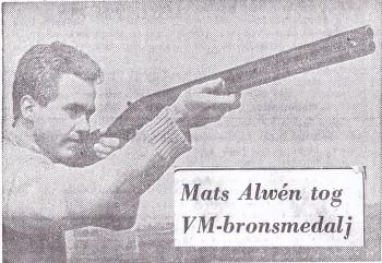 Mats Alwén brons VM i Skeet