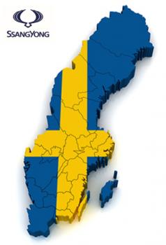 SSangYong bilen för Sverige