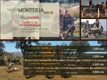Monteria drevjakt i Spanien GodsJakt.se RoyalHunting.se