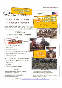 Monteria Wildboar Redstag Mouflon 24 25 Jan 2014