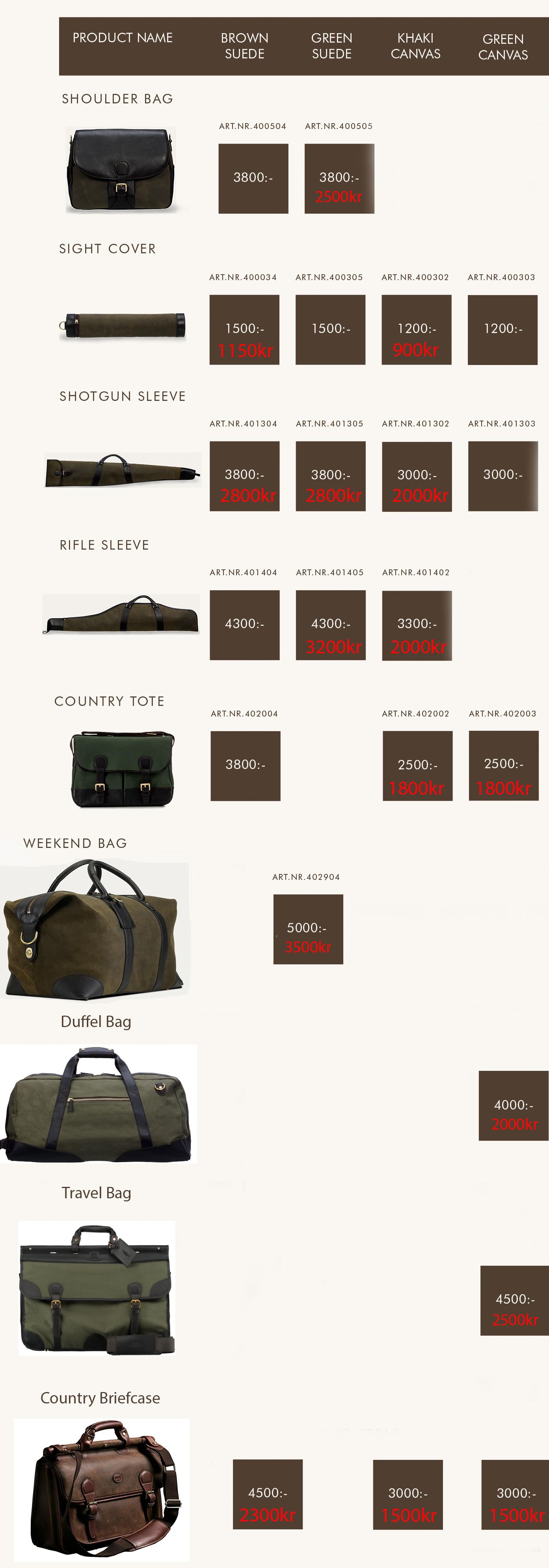 Baron väskor   20 60% Rabatt!