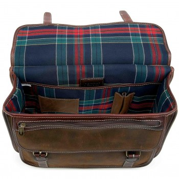 country briefcase brown suede isidan