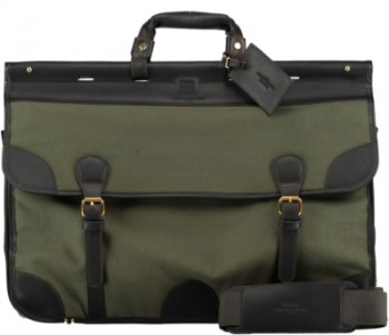 travel bag green canvas 2